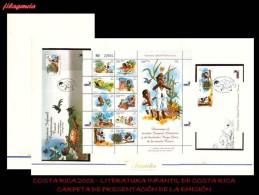 AMERICA. COSTA RICA. CARPETA DE PRESENTACIÓN. 2003 LITERATURA INFANTIL DE COSTA RICA. MINIPLIEGO - Costa Rica
