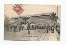 Cp , Commerce , Marché , 16 , ANGOULEME , Les Halles , Voyagée 1905 - Marktplaatsen