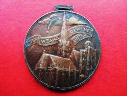 Österreich WIEN Alte Medaille Der Liebe Augustin, Der Wiener Geht Nicht Unten - Souvenir-Medaille (elongated Coins)