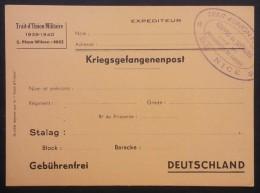 CP Correspondance Pour PRISONNIER DE GUERRE Offerte Par Le TRAIT D'UNION MILITAIRE NICE - Marcophilie (Lettres)