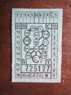 TICKET DE TRANSPORT (M1505) CGTE (2 Vues) Société Genèvoise Des Tramways Electriques - 40 Ct - Tickets D'entrée