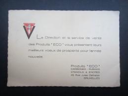 CARTE D'ENTREPRISE (M1505) PRODUITS ECO (2 Vues) Stencils & Encres, Rue Jules Delhaize, 43 Bruxelles - Cartes De Visite