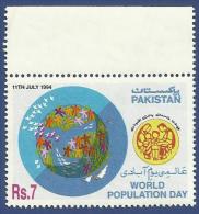 PAKISTAN MNH 1994 WORLD POPULATION DAY CHILDREN SMALL FAMILY - Pakistan