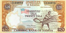 SAMOA 20 TALA ORANGE MAN FRONT BUILDING BACK UNC P.35 ND(2002) READ DECRIPTION !! - Samoa