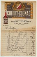 Document Ancien Facture Cherry-Cognac Grand Marnier Produits Damoy Danthin Paris 1939 - Factures
