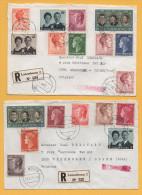 Luxemburg / 2 Einschreiben Von Luxemburg Nach Brüssel Von 1970 + 1971 - Mischfrankatur - Brieven En Documenten