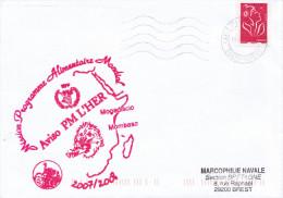LETTRE AVISO  PM L'HER  MISSION PROGRAMME ALIMENTAIRE MONDE 2007/2008 MOGADISCIO MOMBASA - Marcophilie (Lettres)