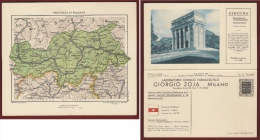 CARTA GEOGRAFICA PROVINCIA DI BOLZANO  - LABORATORIO CHIMICO FARMACEUTICO GIORGIO ZOJA - 1933 - Geographische Kaarten