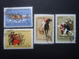 Russie. 1963. Yvert N° 2698 à 2701 Oblit. Sports Régionaux. - 1923-1991 UdSSR