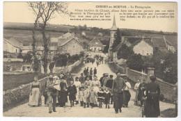 CPA Chissey En Morvan - Le Photographe - Dos Divisé - Circulée - Francia