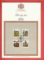 TRANSKEI, 1982, Boys Scouts,  Mint First Day SHEET,  1.26.6 - Transkei