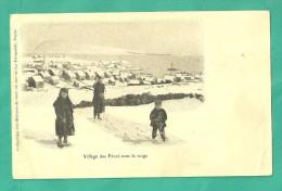 ILES FEROE  (CPA  Village Sous La Neige Le 16 Novembre 1915) - Färöer