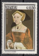 """1002d Paraguay 1966 """" Portrait Of Jane Seymour """"  Quadro Dipinto Da H. Holbein Il Giovane Paintings Tableaux Nuovo MNH - Sonstige"""