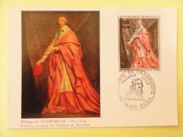 CARTE MAXIMUM CARD RICHELIEU PAR CHAMPAGNE ARPHILA 75 PARIS TIMBRE SURCHARGE - Andere