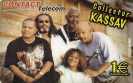 CARTE PREPAYEE  CONTACT TELECOM  *1e  Collector Kassav  3791 - Antilles (French)