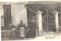 -83- Saint Aygulf Café De La Gare écrite TTB Proprietaires Et Leur Chien RARE Ed Steve - Saint-Aygulf