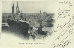 14 Calvados Caen Vue Prise Du Vieux Saint Etienne 1901 Précurseur Timbrée - Caen