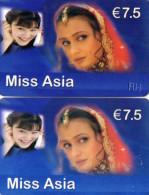 CARTES PREPAYEES ETHNIQUES ASIE 7,5e  Miss Asia  (lot De 2) 9053 - France