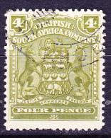 Britische Südafrika-Gesellschaft - Wappen (Mi.Nr.: 63)  1898 - Gest. Used Obl. - Unclassified