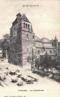 46 - CAHORS - La Cathédrale - Marché - Dos Vierge Précurseur - 2 Scans - Cahors