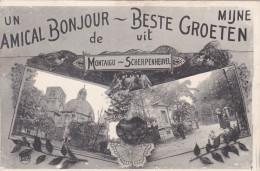 Mijne Beste Groeten Uit Scherpenheuvel Un Amical Bonjour De Montaigue - Scherpenheuvel-Zichem