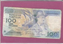 BANCO-DE PORTUGAL 100 CEM ESCUDOS - Portugal
