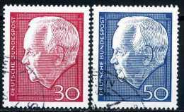 BRD - Michel 542 / 543 - OO Gestempelt (E) - 30-50Pf Lübke II - [7] République Fédérale