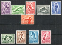 1958 SOMALIA  Sport Serie Completa Nuova ** MNH  Gomma Brunita - Somalia (1960-...)