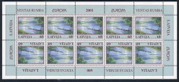 LATVIA 2001 Europa: Water Resources Sheetlet MNH / **.  Michel 544 Kb - Latvia