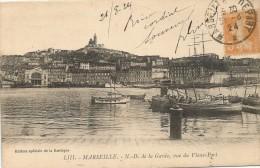 Marseille N.D. De La Garde Vue Du Vieux Port 1924. - Old Port, Saint Victor, Le Panier