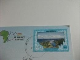 STORIA POSTALE FRANCOBOLLO COMMEMORATIVO MAURITIUS  TERRE DE SEPT COULEURS - Mauritius