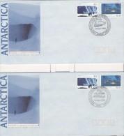 Australia Australie 1990 5 FDC USSR Mawson Davis Scientific Co-operation Antarctic - Australisch Antarctisch Territorium (AAT)