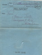 29/10/1916 Feldpost - K K Landsturm Infanterie Regiment Wien Nr 1 - II Bataillon Mots Français écrits Grosses Lettres - Allemagne