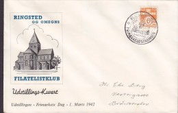 Denmark RINGSTED Og Omegns Filatelistklub Exhibition 142 Cover Brief Tag Der Briefmarke Day Of Stamp Jour De Timbre - Covers & Documents