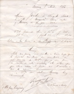 1883 - Bordeaux - Reconnaissance De Dettes - France