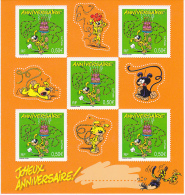 BLOC FEUILLET N° 58, TIMBRES ANNIVERSAIRE MARSUPILAMI 2003 - Mint/Hinged