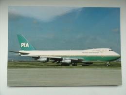 CARTE POSTALE POSTCARD PAKISTAN INTERNATIONAL BOEING 747 - 1946-....: Moderne