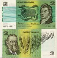 AUSTRALIA       2 Dollars       P-43d       ND (1983)       UNC - 1974-94 Australia Reserve Bank (paper Notes)
