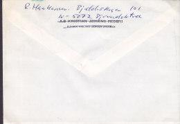 Norway KRISTIAN JEBSENS REDERI (Erased) DRESGEN-BERGEN 1986 Cover Brief AARHUS Denmark Biathlon World Cup Skiing - Briefe U. Dokumente