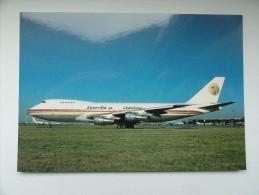 CARTE POSTALE POSTCARD EGYPTAIR BOEING 747 - 1946-....: Moderne