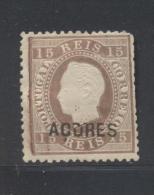 Azores 1875, Minr 27a, Mlh. Cv 15 Euro - Azores