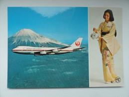 CARTE POSTALE POSTCARD JAPAN AIR LINES BOEING 747 - 1946-....: Moderne