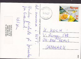 Norway PPC Landpostbud Post Museum MOLDE 1987 Card Karte AARHUS Denmark Lachszucht From Block Miniature Sheet (2 Scans) - Briefe U. Dokumente