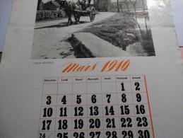 Feuille De Calendrier Mars 1940 Du Comptoir Belge Des Engrais(photo -vieux Héverlé) - Calendriers