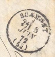 MEURTHE 52 Blamont Tad 16 Du 5 Juin 1872 Et  Taxe 40 DT Boîte Rurale H  Non Identifiée TTB - Marcophilie (Lettres)
