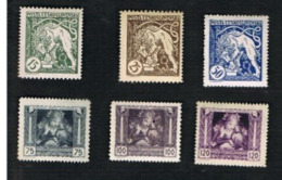CECOSLOVACCHIA (CZECHOSLOVAKIA) - 1919 / 1945 MIXED LOT OF 18 DIFFERENT STAMPS - MINT**/UNUSED*/UNUSED WITHOUT GUM - Cecoslovacchia