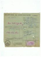 ETent  LAMBERT PARIS   TITRE DE TRANSPORT  De PARIS à NICE   1955 - Camions