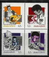 ZIMBABWE 1987, Mint Never Hinged Stamps, Children Health, Nrs. 356-359, #5098 - Zimbabwe (1980-...)