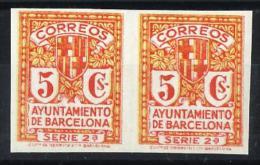 1932 Escudo De La Ciudad De Barcelona 10s** MNH VC 60,00€ PAREJA - Barcelona
