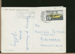 SVIZZERA - UFFICIO POSTALE MOBILE - SCHWEIZER MUSTERMESSE - BASEL 1947 - Fabbriche E Imprese